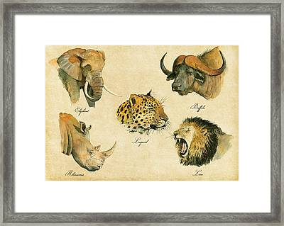 Big Five Poster Framed Print
