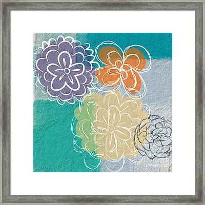 Big Flowers Framed Print