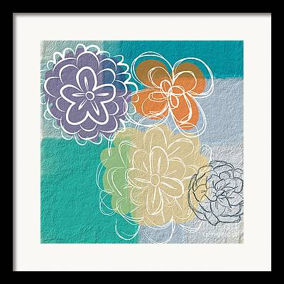 Abstract Floral Framed Prints