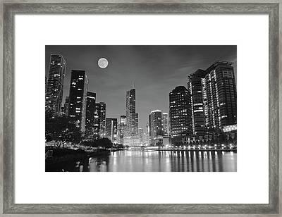 Big Full Chicago Moon  Framed Print