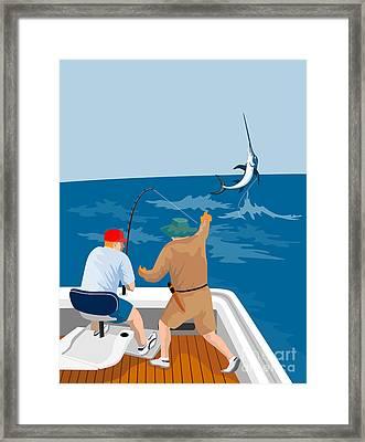 Big Game Fishing Blue Marlin Framed Print by Aloysius Patrimonio