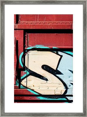 Big Graffiti Letter S Framed Print by Carol Leigh