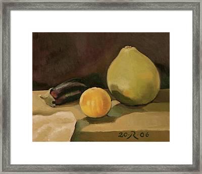 Big Grapefruit Framed Print by Raimonda Jatkeviciute-Kasparaviciene