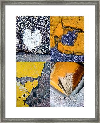 Big Hearts Yellow Framed Print by Boy Sees Hearts