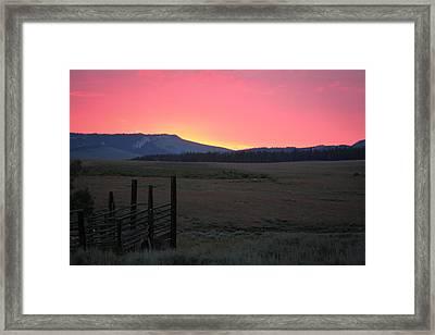 Big Horn Sunrise Framed Print
