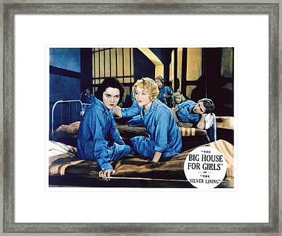 Big House For Girls Aka The Silver Framed Print by Everett
