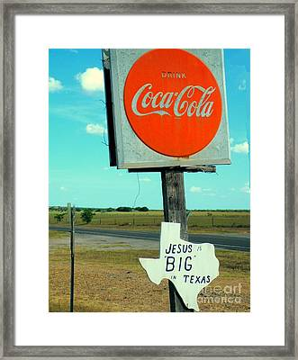 Big In Texas Framed Print by Joe Jake Pratt