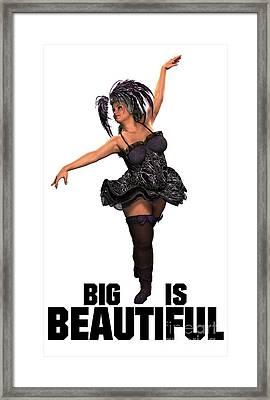 Big Is Beautiful Framed Print by Esoterica Art Agency