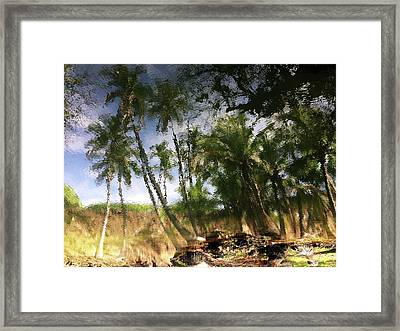 Big Island Reflections Framed Print by Art Shimamura