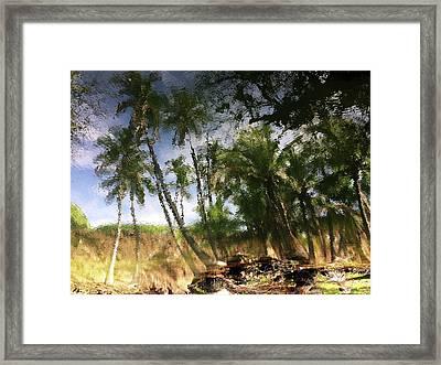 Big Island Reflections Framed Print by Art Shimamura