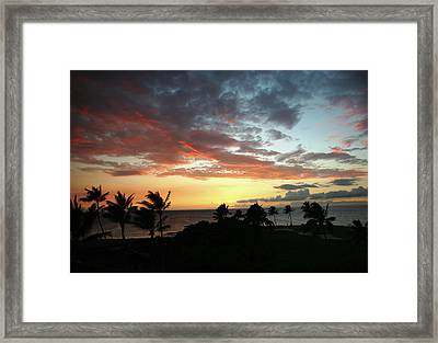 Framed Print featuring the photograph Big Island Sunset #2 by Anthony Jones