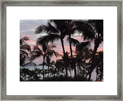 Big Island Sunset 2 Framed Print