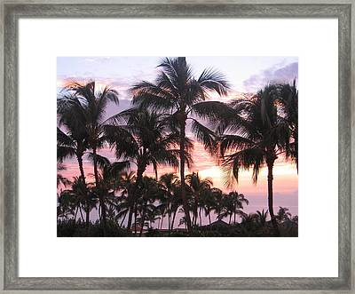 Big Island Sunset 3 Framed Print