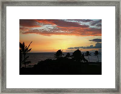 Framed Print featuring the photograph Big Island Sunset by Anthony Jones
