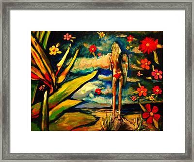 Big Island Surf Framed Print by Kimberly Dawn Clayton