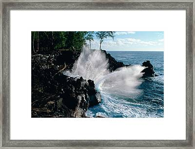 Framed Print featuring the photograph Big Island Waves by Gary Cloud