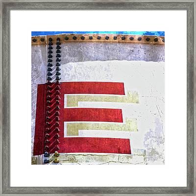 Big Letter E Framed Print
