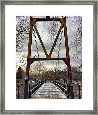 Big M Bridge Framed Print by Tom Gort