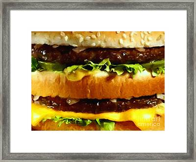Big Mac - Painterly Framed Print by Wingsdomain Art and Photography