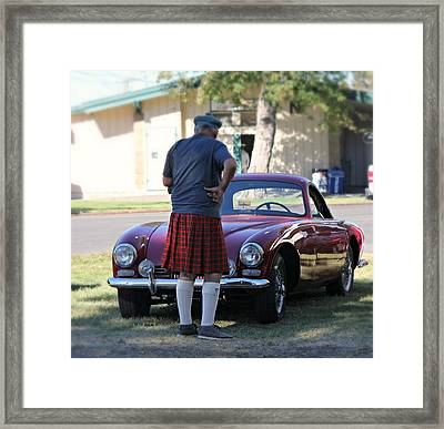 Big Man Little Car Framed Print