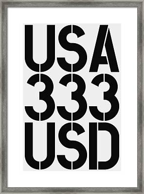 Big Money 333 Usd Framed Print by Three Dots