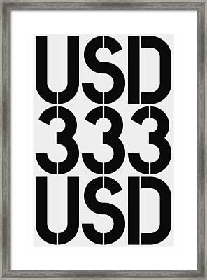 Big Money Usd 333 Framed Print by Three Dots