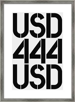 Big Money Usd 444 Framed Print by Three Dots