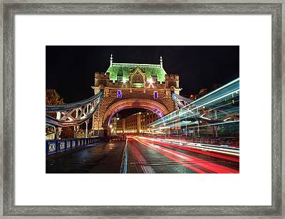 Framed Print featuring the photograph Big Monster Is Eating Ghost Bus Number 42 by Quality HDR Photography
