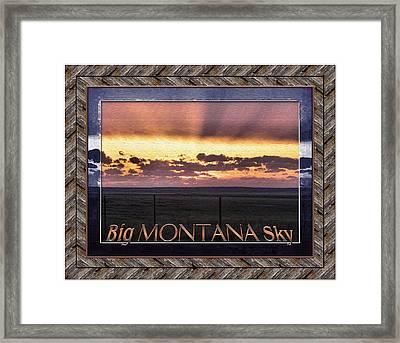 Framed Print featuring the photograph Big Montana Sky by Susan Kinney