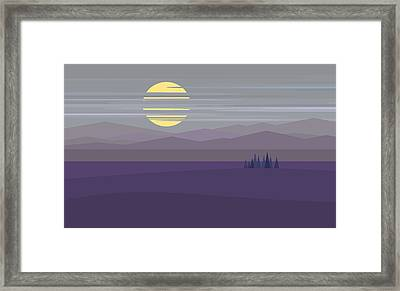 Big Moon At Twilight Framed Print by Val Arie