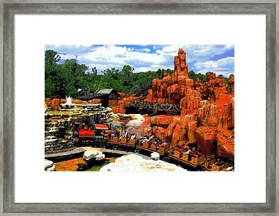 Big Mountain R R Framed Print by David Lee Thompson