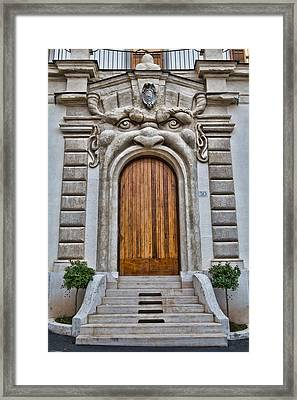 Framed Print featuring the photograph Big Mouth Door by Kim Wilson