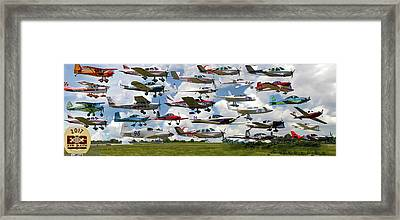 Big Muddy Fly-by Collage Framed Print