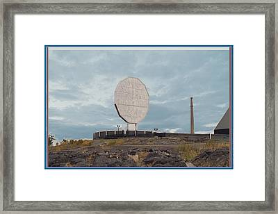Big Nickel Built In 1964 Cost Cad35000 At That Time Sudbury And Copper Cliff Framed Print