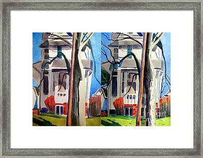 Big Old Behemoth Of A House Day 1 And Day 2 Framed Print by Charlie Spear