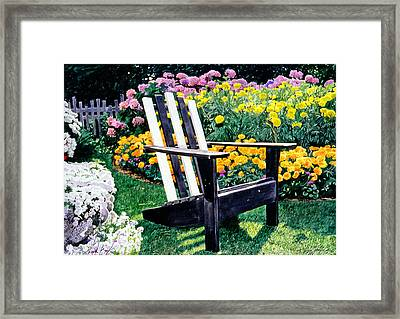 Big Old Chair Evening Light Framed Print by David Lloyd Glover