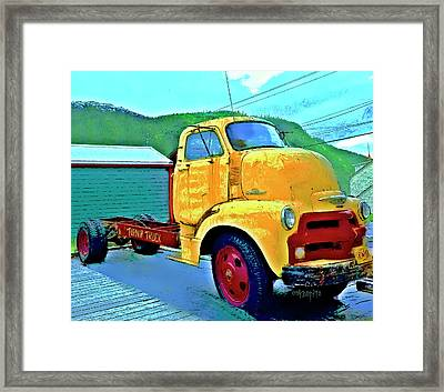 Big Old Chevy Truck - The Turnip Truck Framed Print