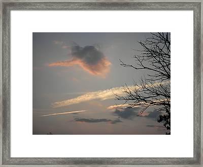Big Orange And Black Cloud Framed Print