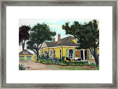 Big Orange House Framed Print by Tim Ross