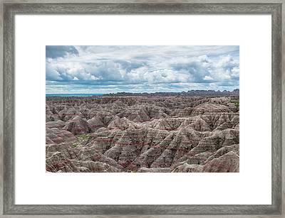 Big Overlook Badlands National Park  Framed Print