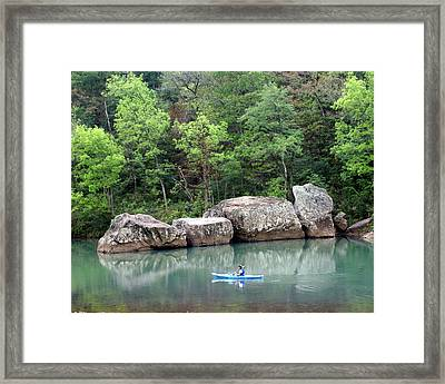 Big Piney Creek 1 Framed Print by Marty Koch