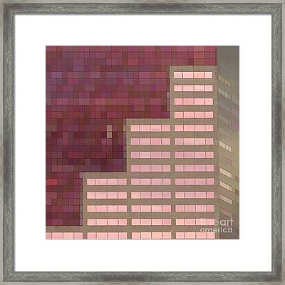 Big Pink Abstract Framed Print by Noel Zia Lee