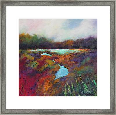 Big Pond In Fall Mc Cormick Woods Framed Print by Marti Green