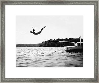 Big Pond Swan Dive Framed Print