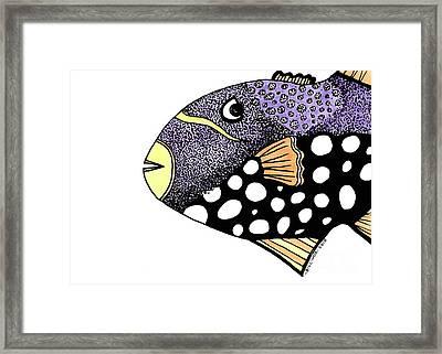 Big Purple Fish Framed Print