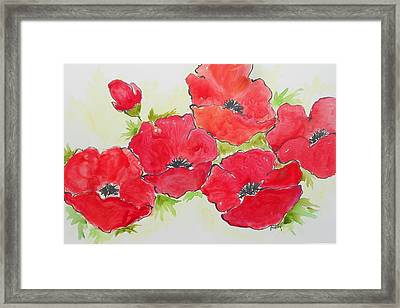 Big Red 3 Framed Print