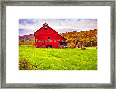 Big Red Barn - Paint Framed Print