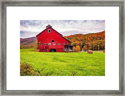 Big Red Barn Framed Print by Steve Harrington