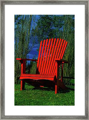 Big Red Chair Framed Print