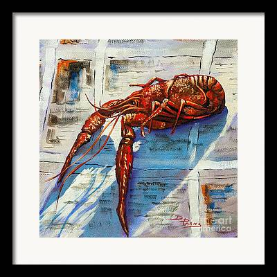 Louisiana Crawfish Framed Prints
